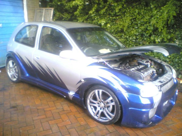 1999 t reg vauxhall corsa sxi (used to be a 1.2 16v) Engine mods: