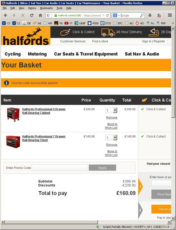 Coupon halfords