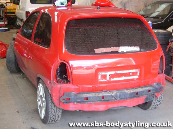 tow bar fitting on a corsa - corsa sport - for vauxhall and opel corsa b,  corsa c and corsa d